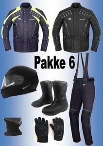 Bilde av   PAKKE 6, FULL PAKKE:jakke,bukse,hjelm,støvler,hansker, halsvar