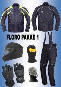 Bilde av   FLORO PAKKE 1: jakke,bukse,hjelm,hansker,halsvarmere